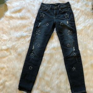 Buffalo jeans Hope skinny mid rise size 28 stars